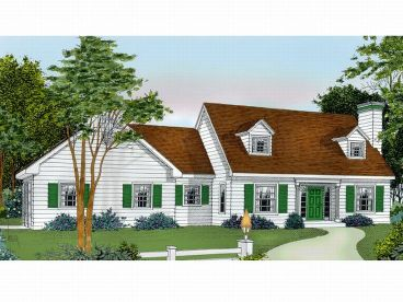 New England House Plan, 026H-0060