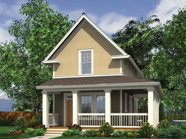 Small Narrow Lot House Plan, 034H-0383