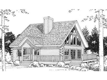 Small Log House Plan, 031H-0026