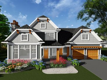 Two-Story House Plan, 020H-0414