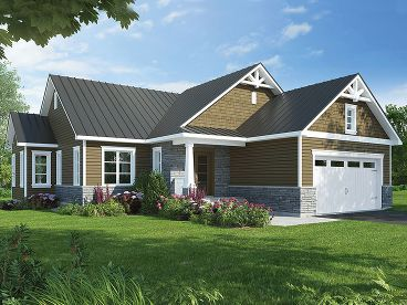 Small Craftsman House Plan, 027H-0460