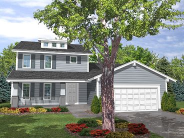 Two-Story Home Plan, 016H-0002