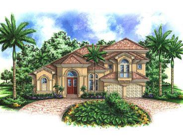 Luxury Sunbelt Home, 037H-0028