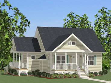 Cottage Home Plan, 067H-0046