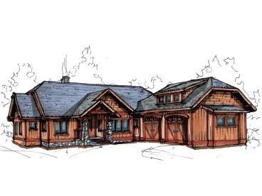 Rustic House Design, 025H-0204