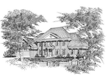 Colonial Home Plan, 061H-0097
