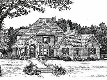 Two-Story House Plan, 002H-0069