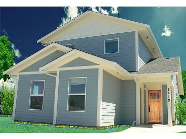 Bungalow House Plan, 056H-0006
