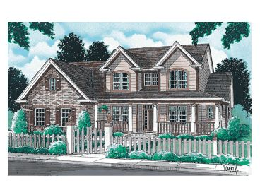Country Home Plan, 059H-0034