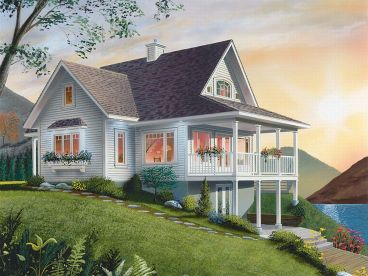 Mountain House Plan, 027H-0073