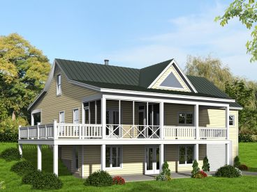 Mountain House Plan, Rear, 062H-0079