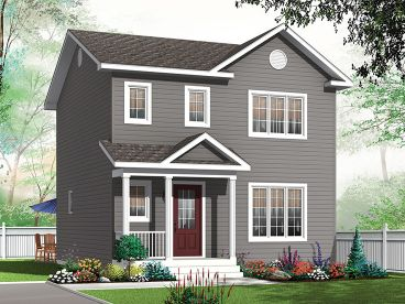 Small Narrow Lot House Plan, 027H-0444