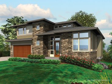 Contemporary House Plan, 034H-0036