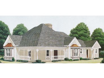 Ranch Home Plan, 054H-0072