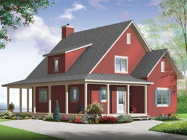 Country House Plan, 027H-0332