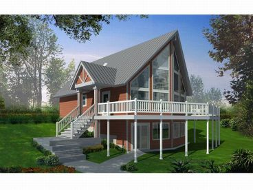 A-Frame House Plan, 026H-0111