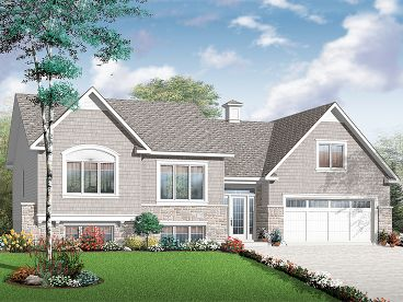 Split-Level House Plan, 027H-0324