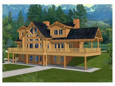 Mountain Log Home, 012L-0025