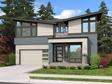 Modern Two-Story Home, 035H-0120