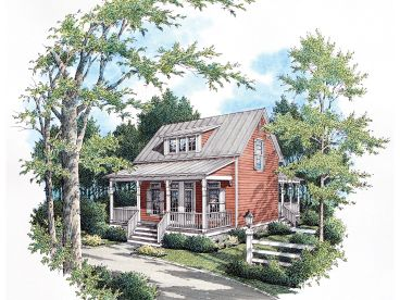 Vacation House Plan, 021H-0200