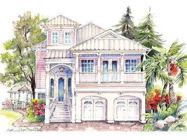 Narrow Lot Home Plan, 041H-0126