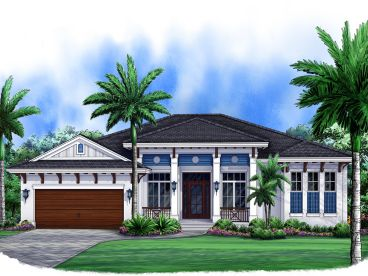 West Indies House Plan, 037H-0179