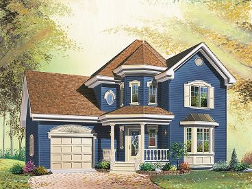 Narrow Lot House Plan, 027H-0202