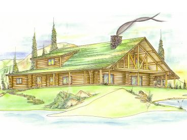 Log Home Plan, 012L-0055