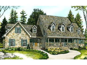 Two-Story House Plan, 008H-0031