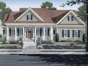 Country Home Plan, 046H-0128
