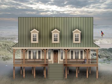 Coastal House Plan, 006H-0166
