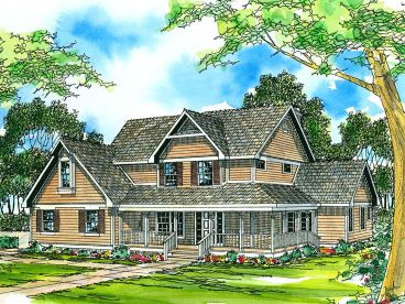 Two-Story House Plan, 051H-0022