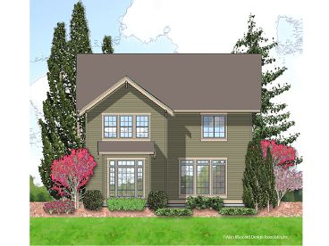 Rear ViewNarrow Lot House Plan, 034H-0023