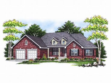 Traditional Home Plan, 020H-0002