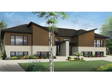 Contemporary Duplex Plan, 027M-0072