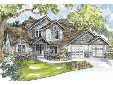 Craftsman House Plan, 051H-0115