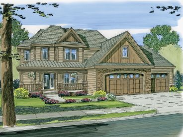 Two-Story House Plan, 050H-0019