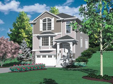 Hillside House Plan, 034H-0100