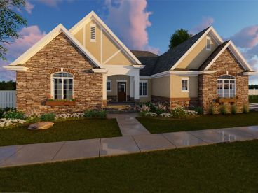 European House Plan, 050H-0120