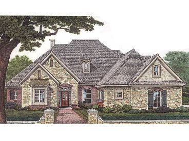 European House Plan, 002H-0050