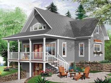 Waterfront House Plan, 027H-0412