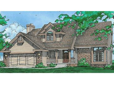 Two-Story House Plan, 031H-0001
