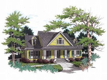 Country Home Plan, 021H-0137