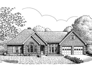 Traditional Home Plan, 054H-0115