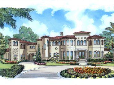 Mediterranean House Plans | Luxurious Two-Story Mediterranean Home ...