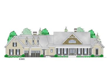 Ranch House Plan, 053H-0084