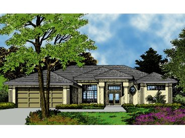 Sunbelt Home Plan, 043H-0117