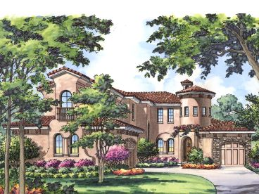 Tuscan Home Plan, 043H-0196