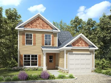Small Two-Story House Plan, 019H-0200