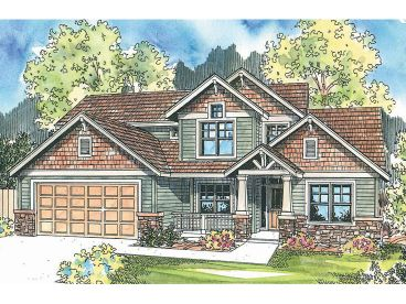 Craftsman House Plan, 051H-0141